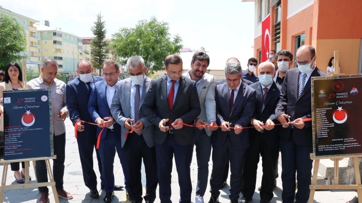 15 Temmuz Demokrasi ve Milli Birlik Günü resim sergisi açılışı yapıldı