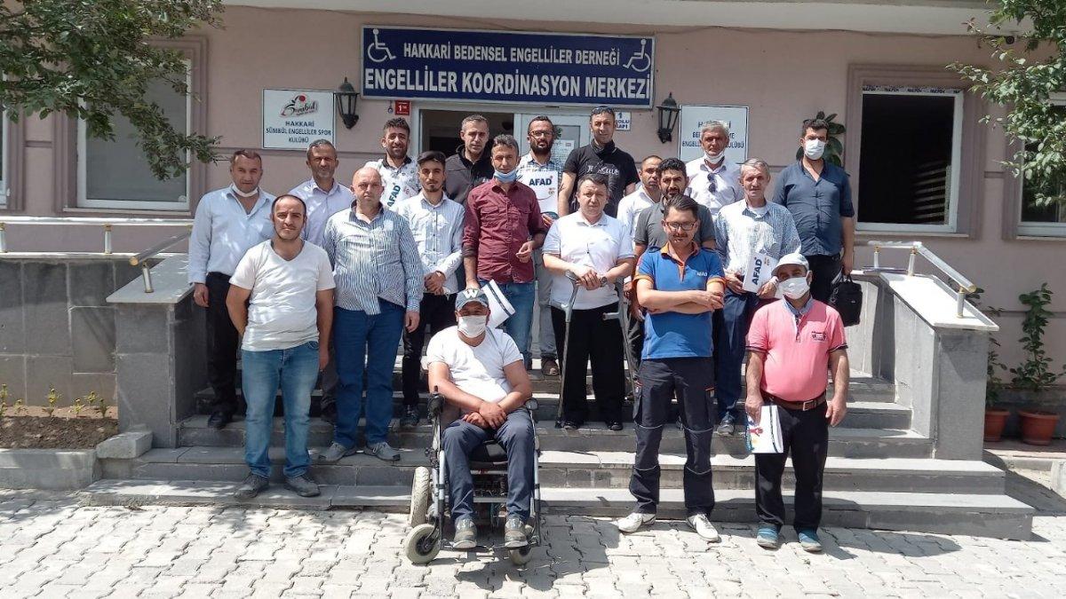 AFAD'tan engellilere eğitim - Hakkari Haberleri
