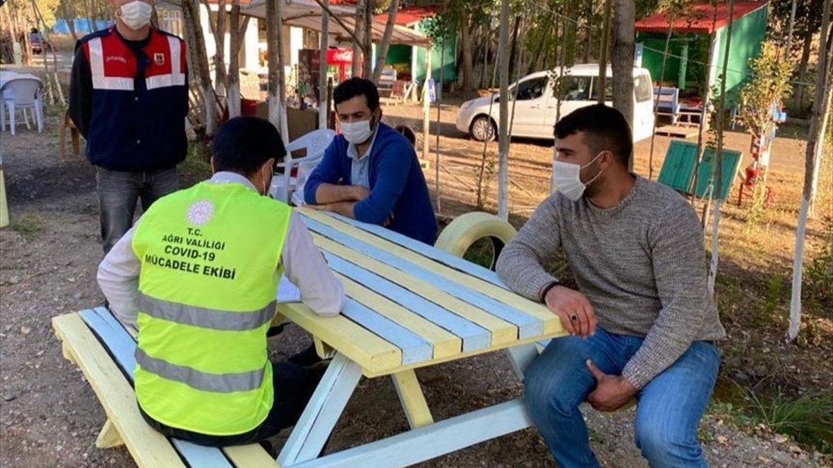 Ağrı'da koronavirüs karantinasını ihlal eden 3 kişiye para cezası