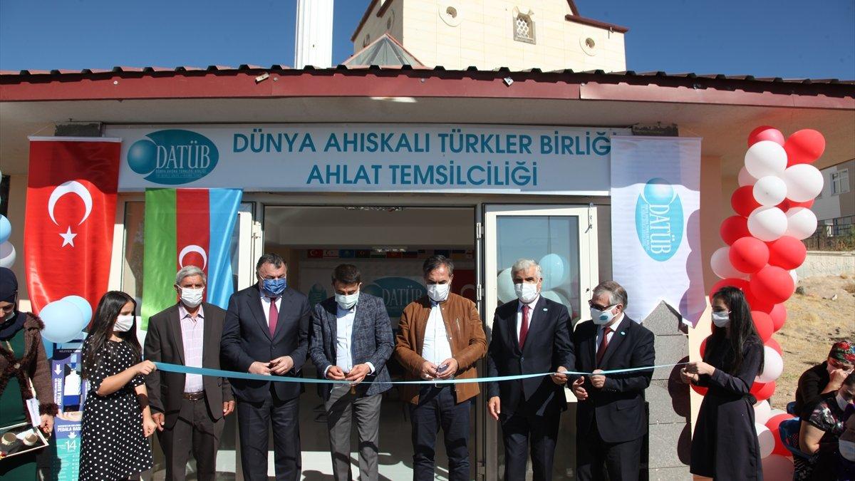 """Ahlat'ta """"Dünya Ahıskalı Türkler Birliği Temsilciliği"""" açıldı"""
