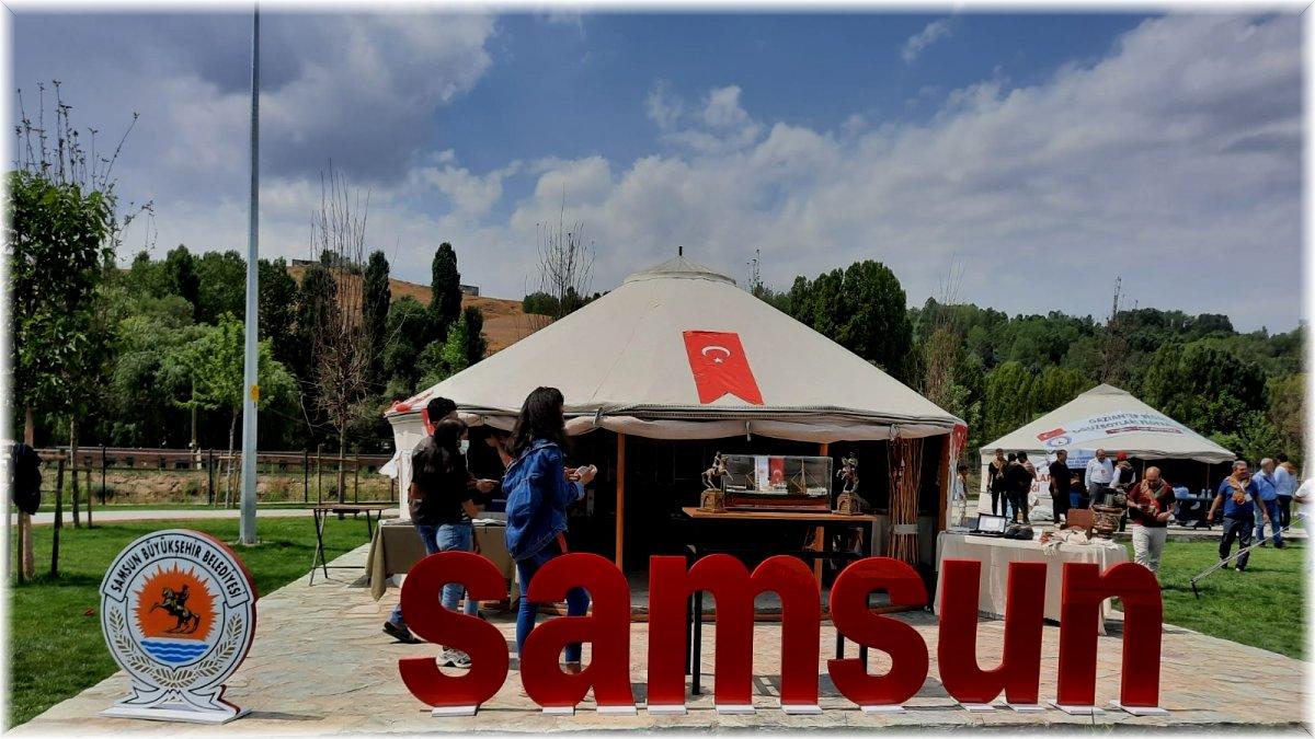 Ahlat Türk Oba Çadırı'nda 'Samsun' standına büyük ilgi