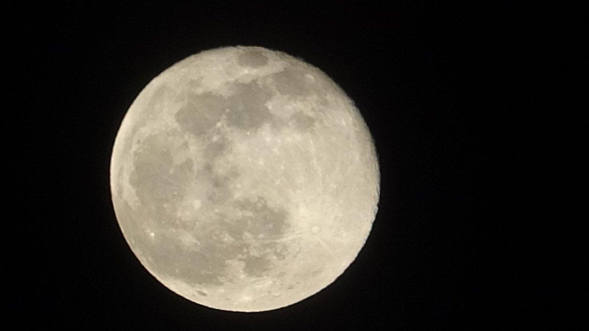 Ardahan'da muhteşem Süper Ay manzarası