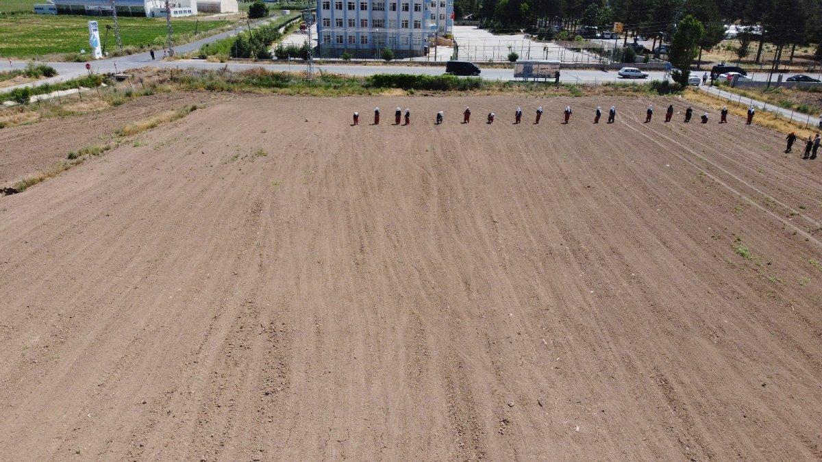Ata tohumları ve sebze fidanları toprakla buluştu