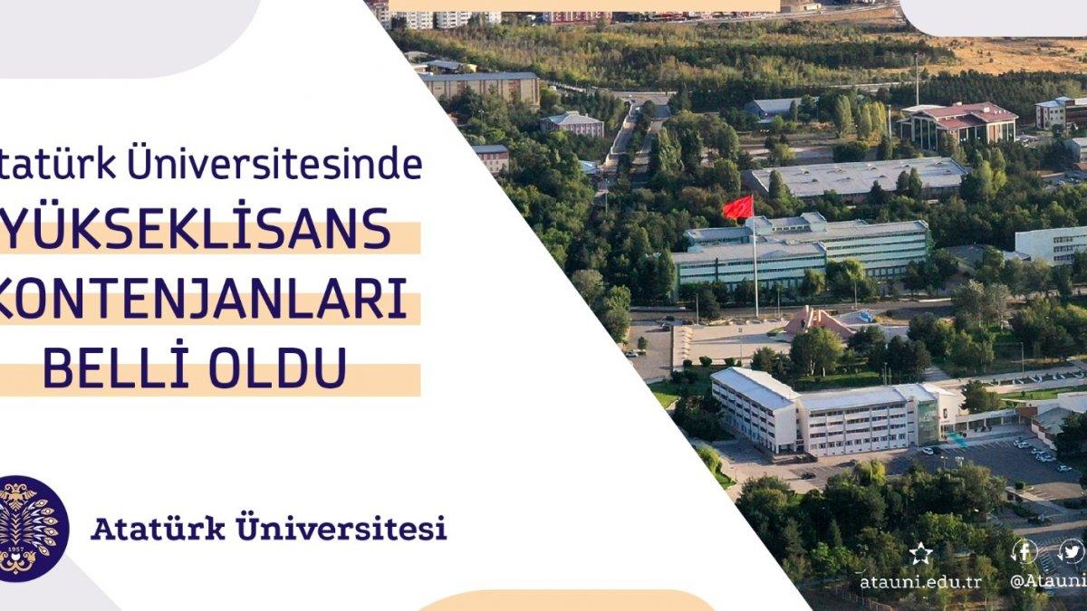 Atatürk Üniversitesi'nde lisansüstü kontenjanlar açıklandı