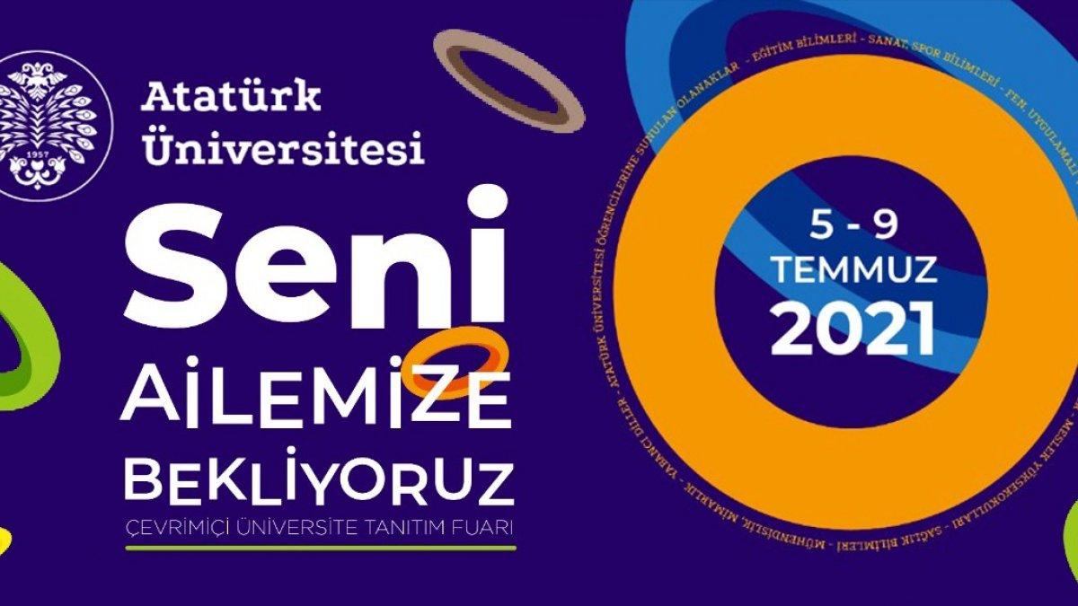 Atatürk Üniversitesinde çevrim içi üniversite tanıtım fuarı başladı