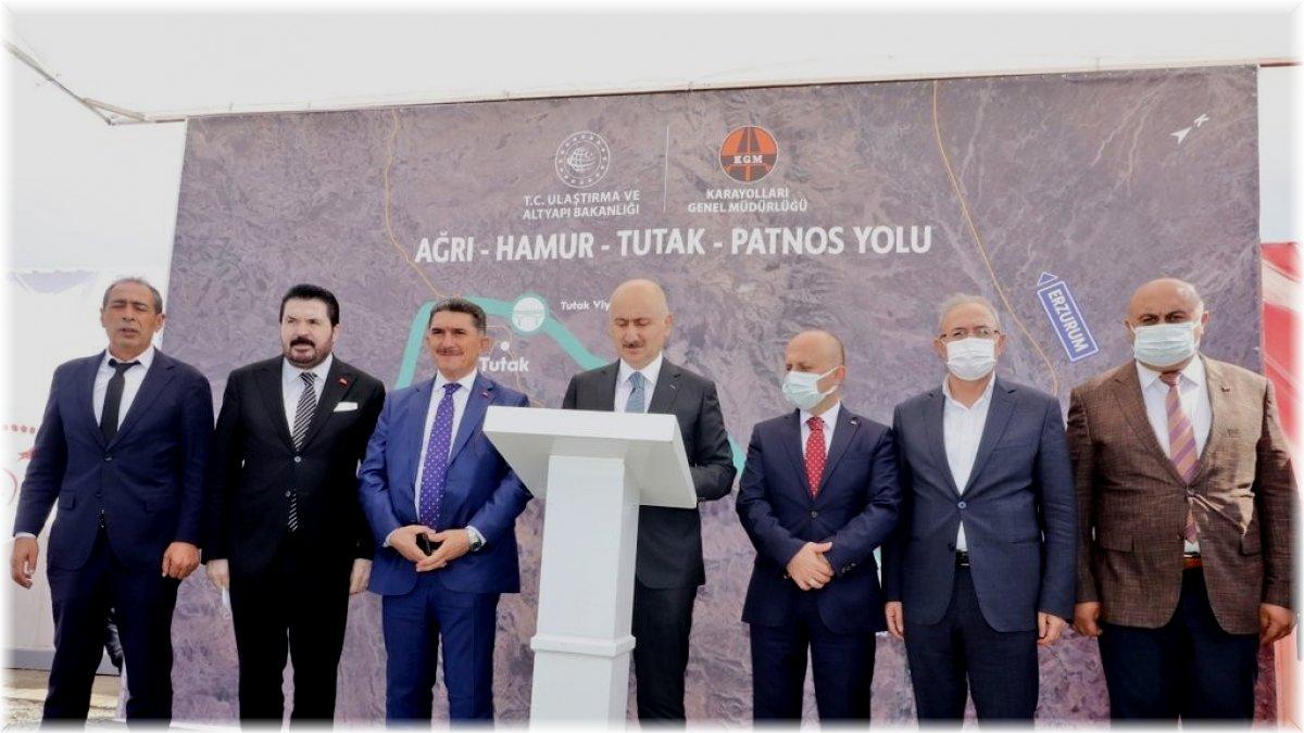 Bakan Karaismailoğlu: 'Ağrı-Hamur-Tutak-Patnos Devlet Yolu Kuzey-Güney aksının önemli bir parçası'