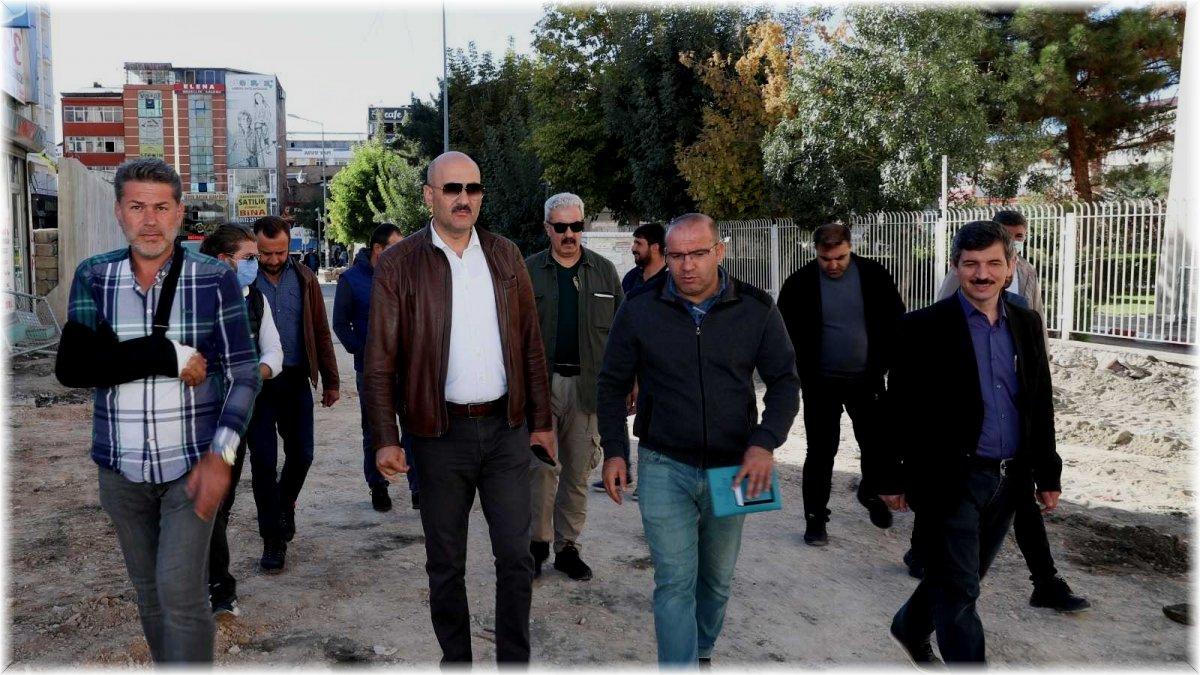Başkan Vekili Aydın belediyenin çalışmalarını inceledi