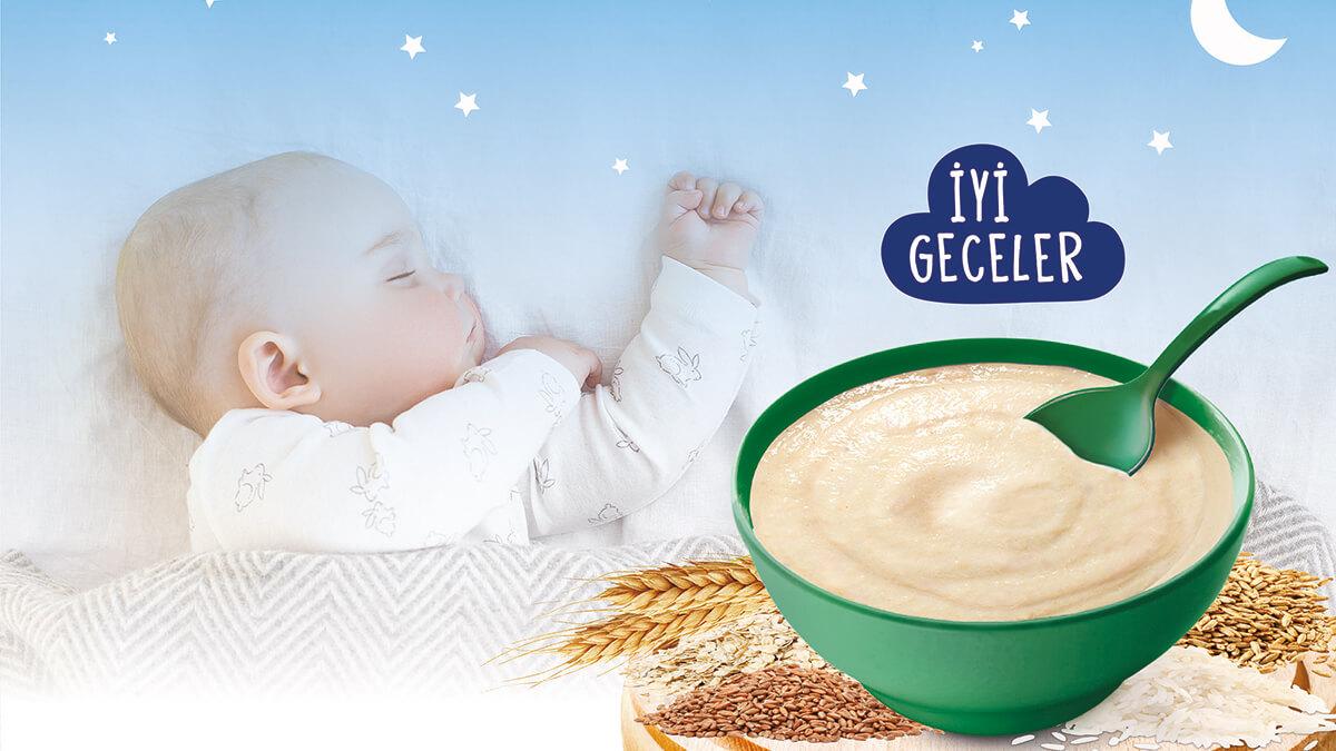 Bebekler Tahıllı Kaşık Mamalarla Uyusun da Büyüsün!