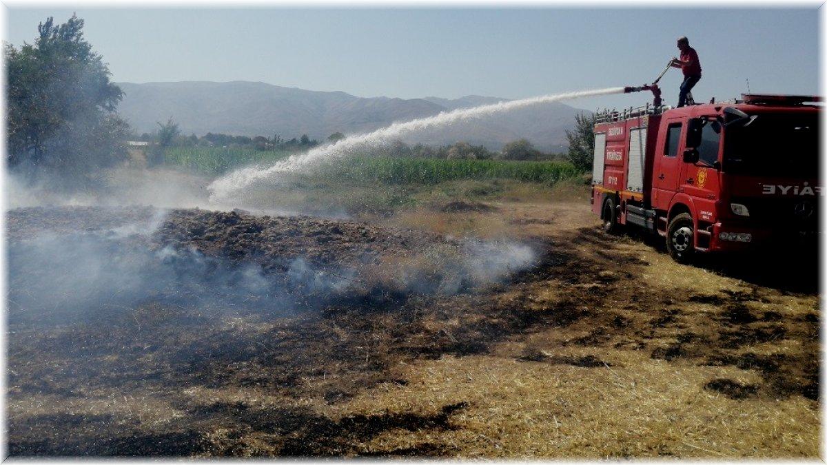 Boş arazide örtü yangını büyümeden kontrol altına alındı