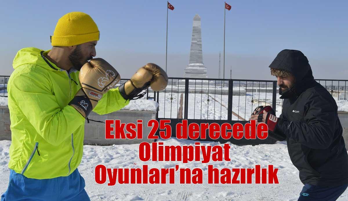 Dondurucu soğukta Olimpiyat Oyunları'na hazırlanıyor