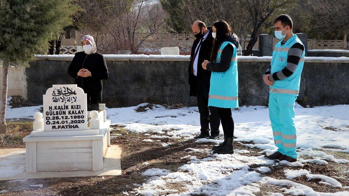 Elazığ Belediyesi engelli depremzedenin annesinin kabir ziyareti talebini yerine getirdi