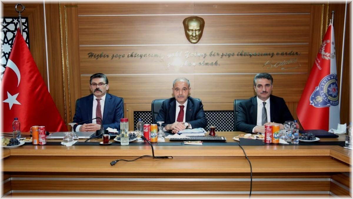 Emniyet Genel Müdürü Aktaş'tan Malatya'da asayiş toplantısı