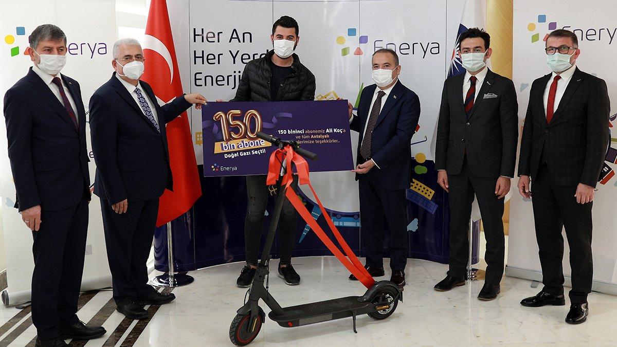 Enerya'nın Antalya'daki doğal gaz abone sayısı 150 bine ulaştı