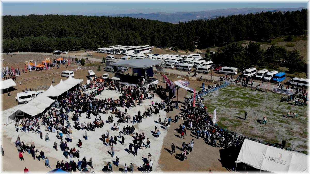 Erzincan'da 5. Dumanlı Yaylası Gençlik ve Doğa Festivali renkli görüntülere sahne oldu