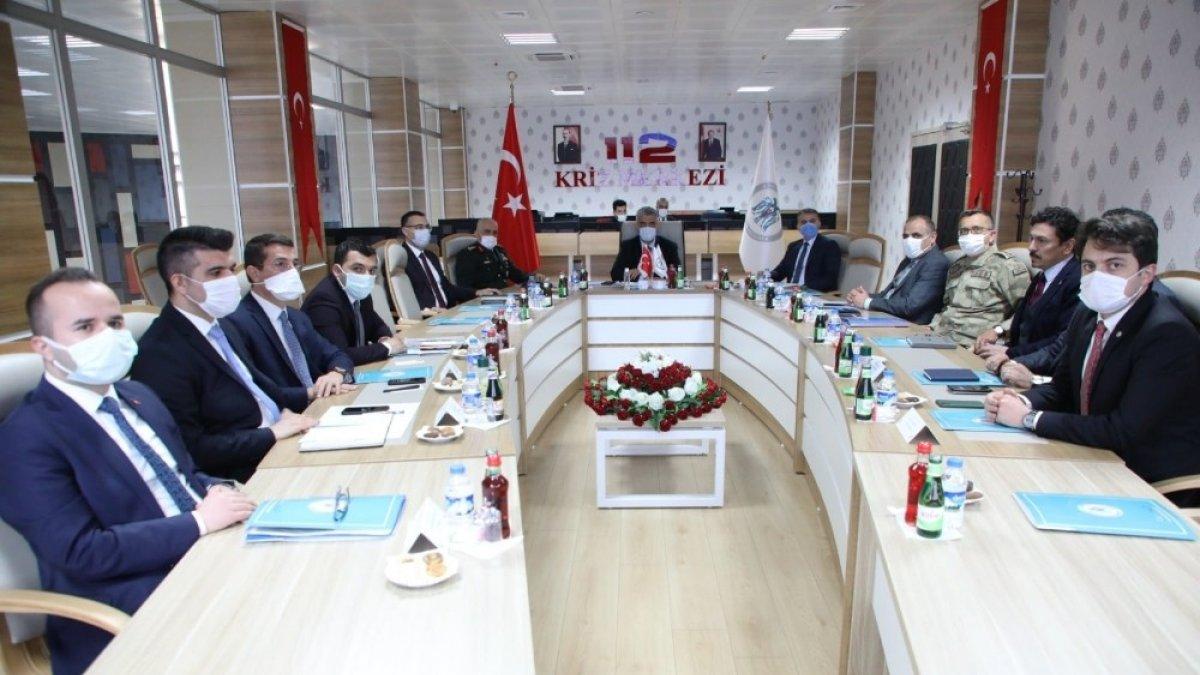 Erzincan'da, İl Güvenlik ve Asayiş Koordinasyon Toplantısı ile Kaymakamlar Toplantısı yapıldı