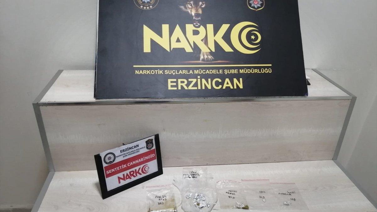 Erzincan'da uyuşturucu satıcılarına yönelik operasyonda 3 kişi tutuklandı