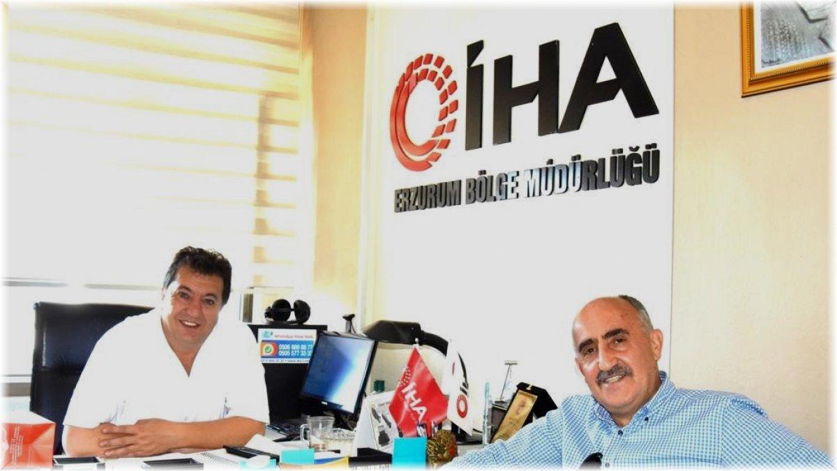 Erzurum Kent Konseyi Başkanı Tanfer'den İHA Bölge Müdürü Ayhan Türkez'e nezaket ziyareti