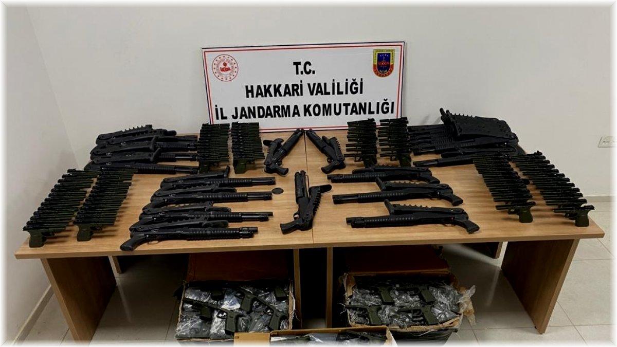 Hakkari'de 380 tabanca gövdesi ve 22 av tüfeği ele geçirildi