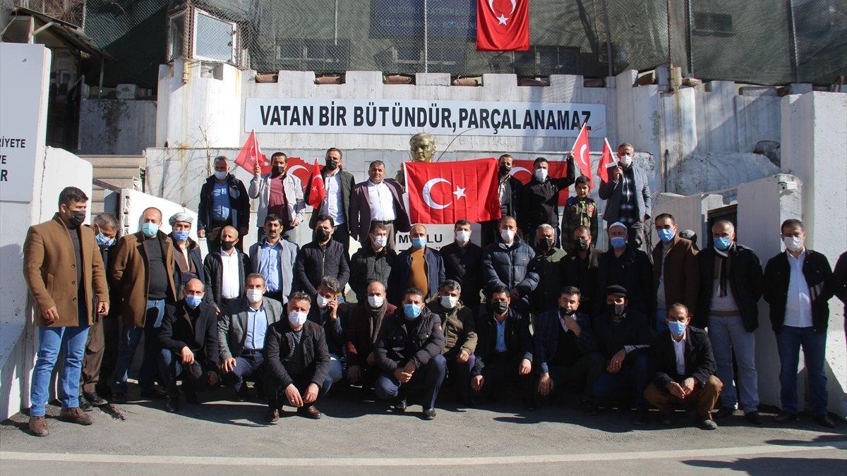 Hakkari'de, terör örgütü PKK tarafından 13 Türk vatandaşının şehit edilmesine tepki