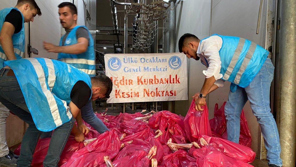 Iğdır'da ihtiyaç sahibi 500 aileye kurban eti dağıtıldı