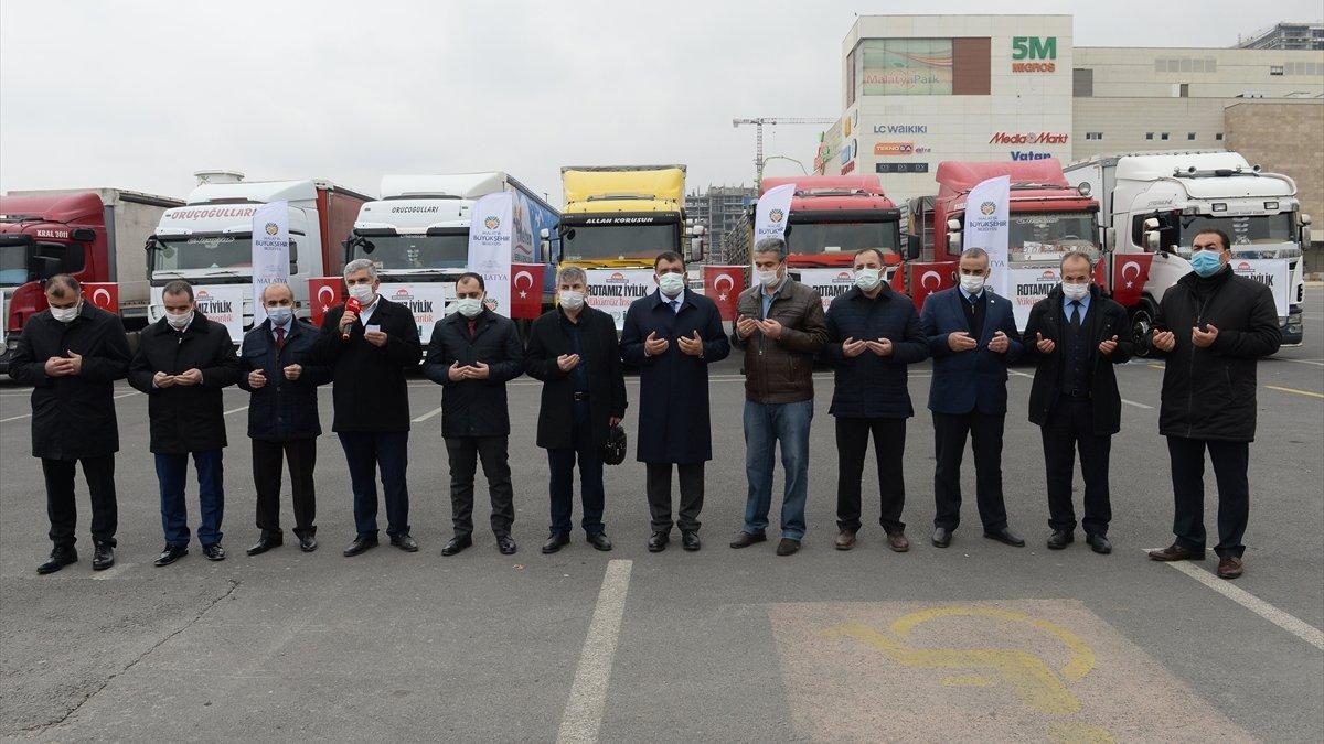 İHH'nin yardım tırları Suriye'ye gönderildi