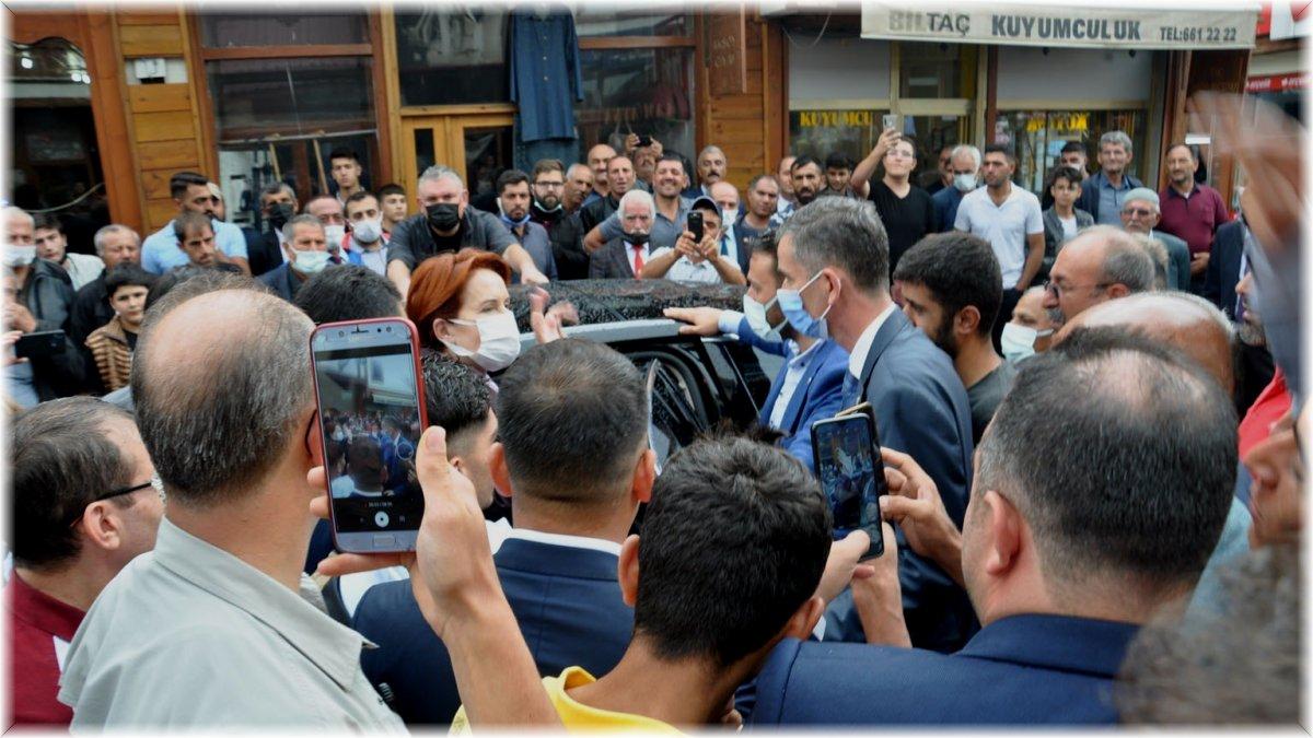 İYİ Parti Genel Başkanı Meral Akşener, Pasinler'de