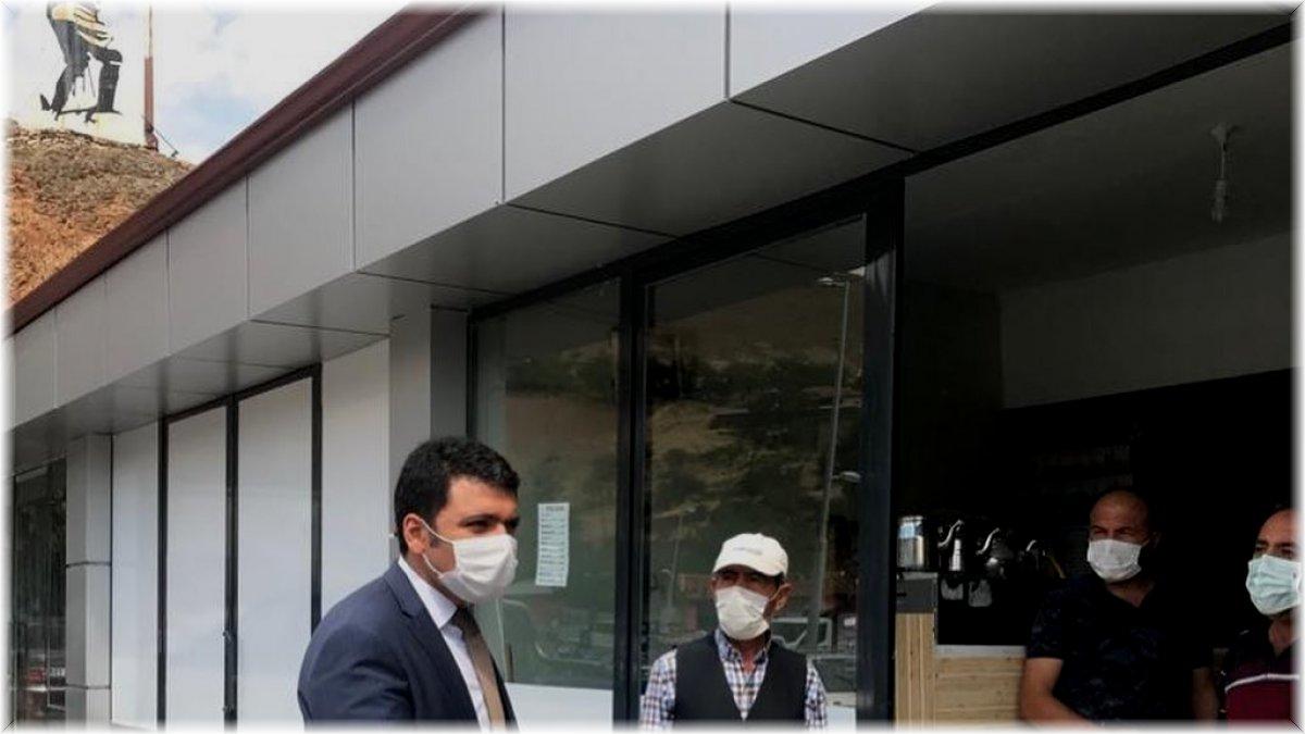 Kaymakam Gilan'dan esnaflara pandemi kuralları denetimi