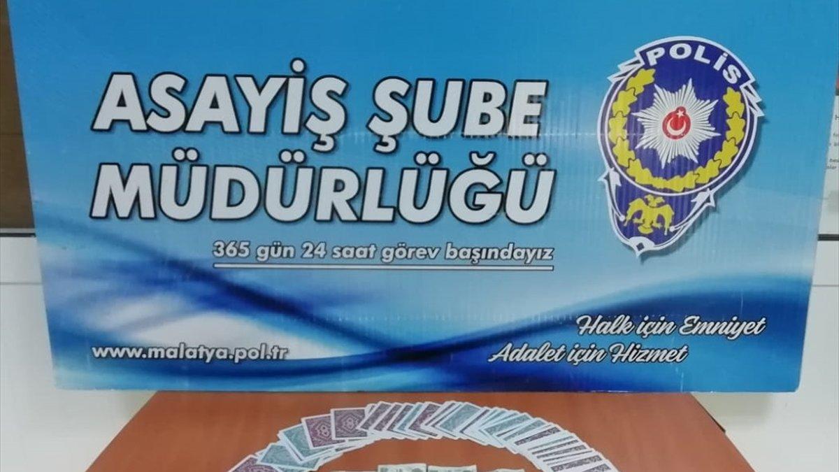 Malatya'da kumar oynayan 6 kişiye 7 bin 350 lira ceza