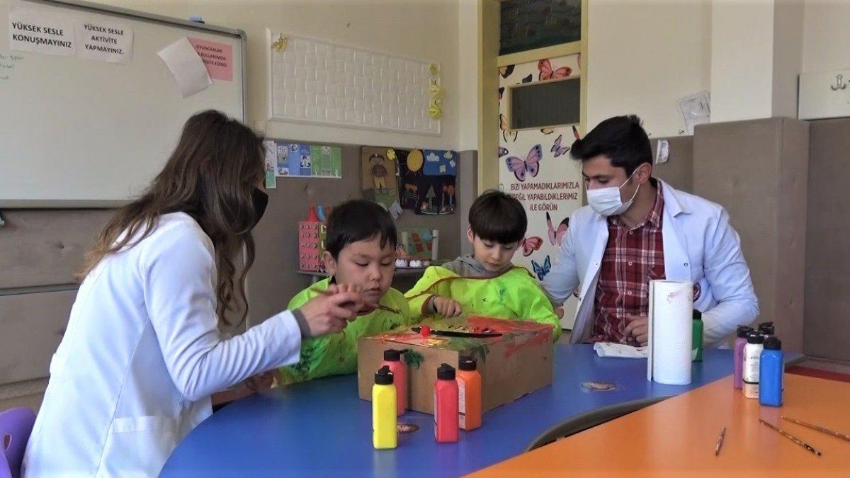 Özel çocuklardan özel proje