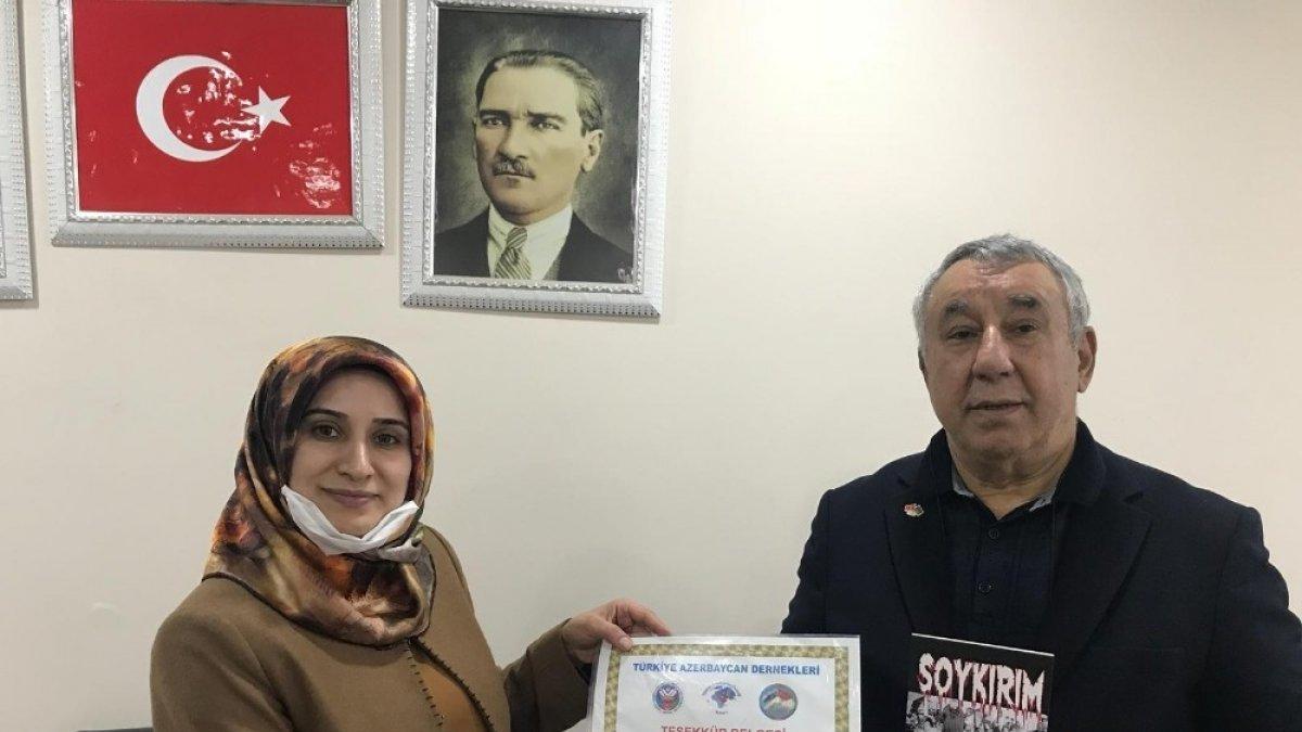 TADDEF'ten AK Parti Kadın Kolları İl Başkanına teşekkür belgesi