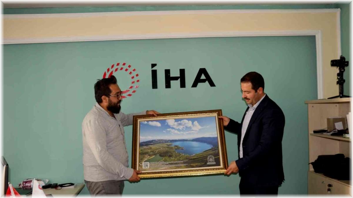 Tatvan Belediye Başkanı Mehmet Emin Geylani'den İHA'ya ziyaret