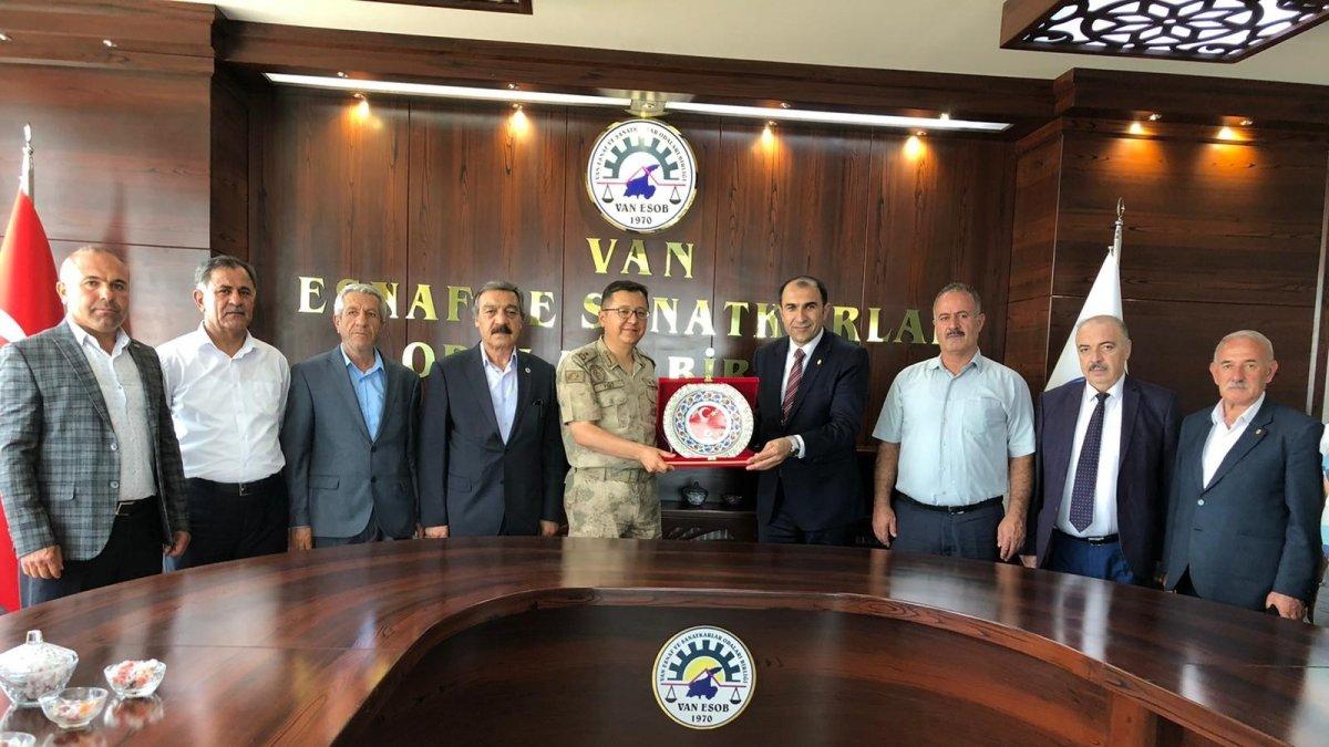 Tuğgeneral Yiğit'ten Başkan Berge'ye ziyaret