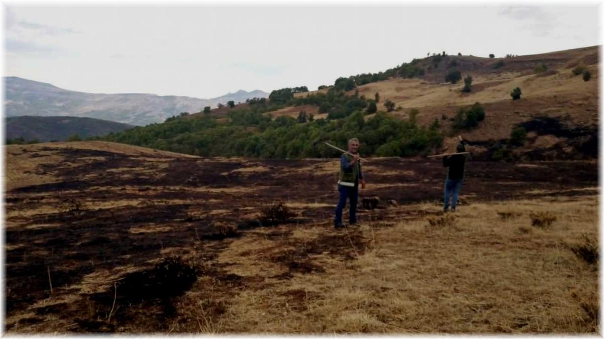 Tunceli'de örtü yangını söndürüldü