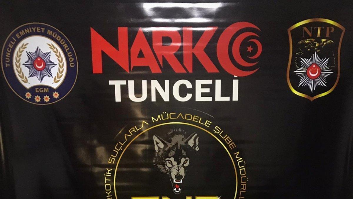 Tunceli'de uyuşturucu satıcılarına yönelik operasyonda 8 şüpheli yakalandı