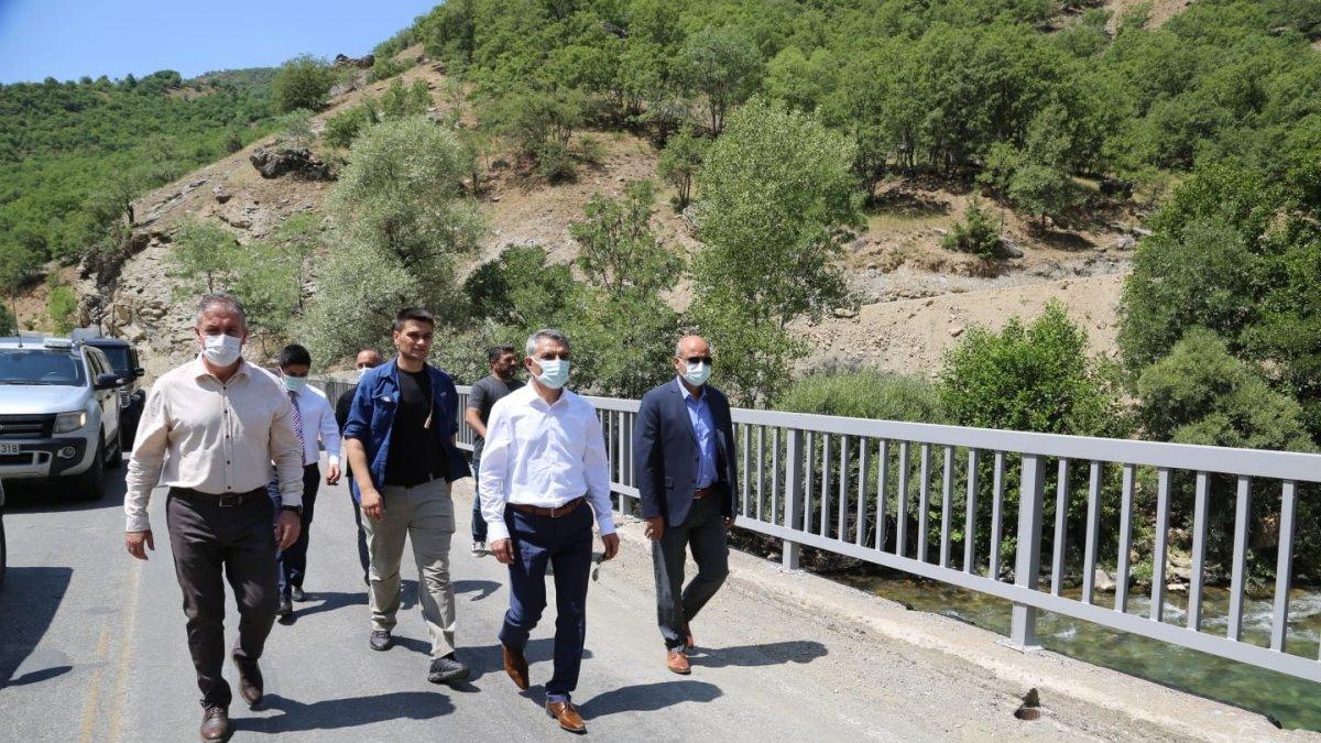 Tunceli Valisi Özkan, incelemelerde bulundu