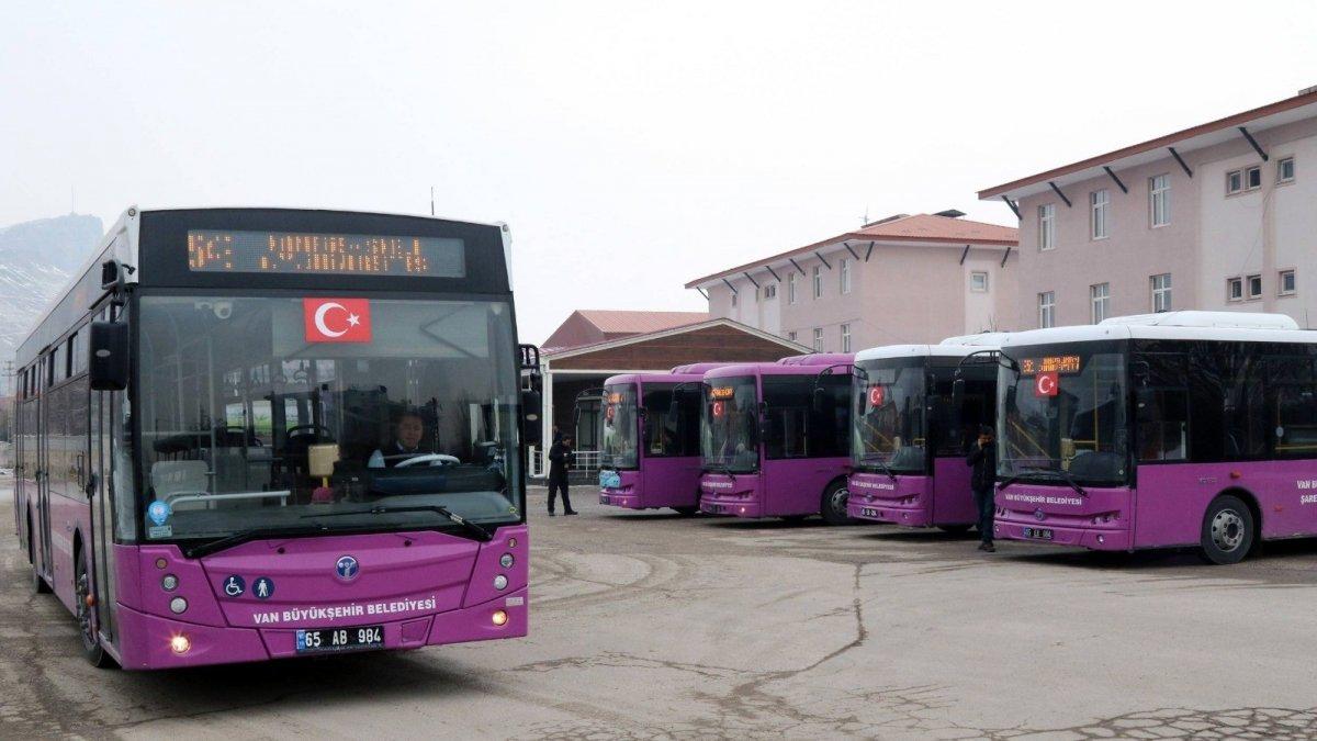 Van'da bayram boyunca otobüsler ücretsiz olacak