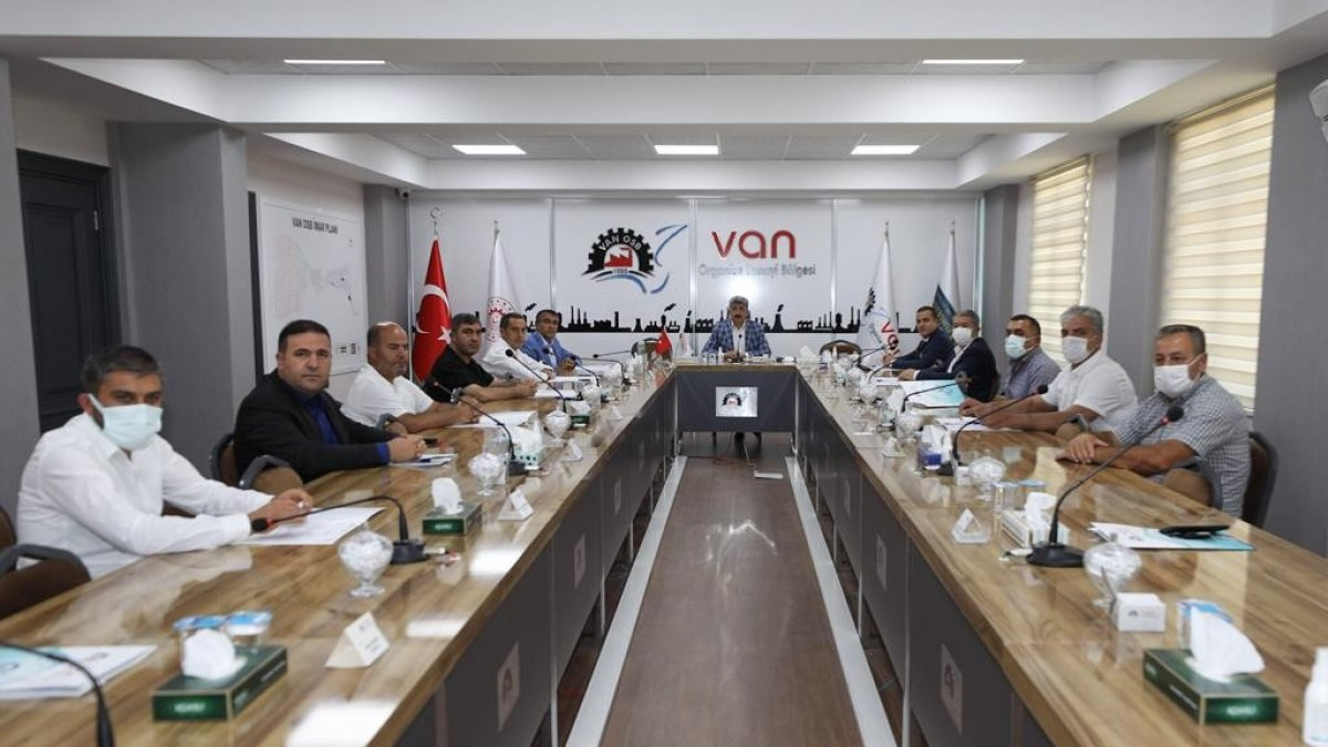 Van Organize Sanayi Bölgesi Müteşebbis Heyeti Toplantısı yapıldı
