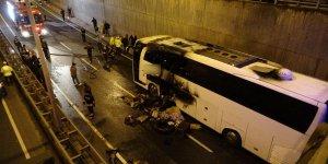 Patnos Yolcu otobüsünde yangın çıktı