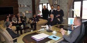 Ağrı MEB AKUB ekibinden Milli Eğitim Müdürü Tekin'e ziyaret
