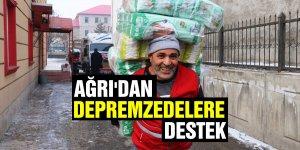Ağrı'dan Depremzedelere destek