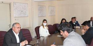 Ağrı Aile, Çalışma ve Sosyal Hizmetler İl Müdürlüğü'nde Koronavirüs toplantısı