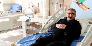 Ayaklarında soğuk yanığı oluşan kargo şoförü Erzurum'da tedaviye alındı