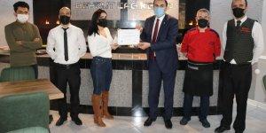 ESOB'dan Beyrut Cağ Kebap salonuna teşekkür belgesi