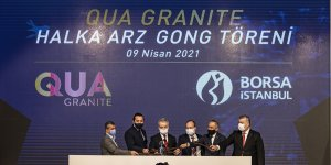 Borsa İstanbul'da gong Qua Granite için çaldı