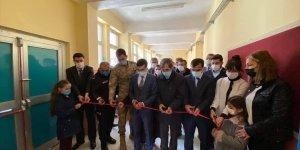 Doğanşehir'de yapımı tamamlanan kütüphane hizmete açıldı