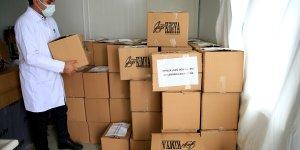 Elazığ'da konteyner kentlerde geçici barınan depremzedelere 5,5 ton hijyen kolisi yardımı yapıldı