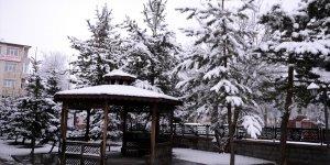 Ardahan kar yağışıyla nisanda beyaza büründü