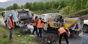 Tatvan'da temizlik çalışmaları devam ediyor