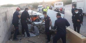 Elazığ'da trafik kazası: 1 ölü, 2 yaralı