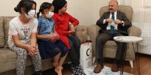 Vali Varol'dan, Karakuş ailesine ziyaret
